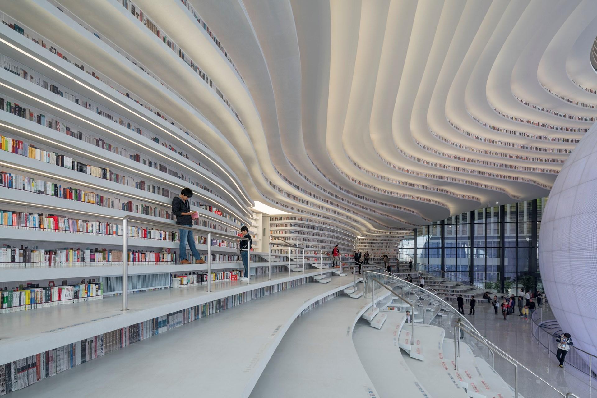 Hasil gambar untuk tianjin binhai library